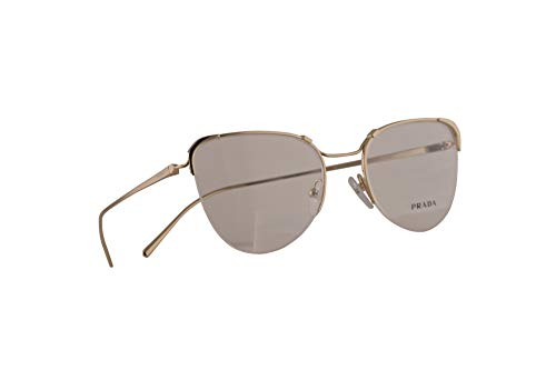 Prada VPR 60U Brille 51-19-140 Gold Blass Mit Demonstrationsgläsern ZVN1O1 PR 60UV PR60UV VPR60U
