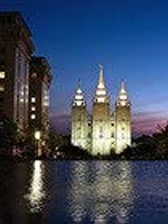 5D Diamond Painting Kits Drill Embroidery DIY Crystals Rhinestone Painting Pasted Paint by Number Kits Cross Stitch (Salt Lake City Reflection LDS Temple)