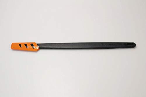 Tupperware Griffbereit Kleiner Top-Schaber schwarz-orange Teigspachtel schmal