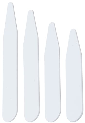 250 Plastic Collar Stays for Men - 4 Sizes, by Quality Stays