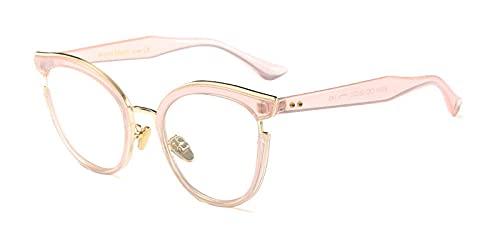 Gafas De Sol Hombre Mujeres Ciclismo Montura De Anteojos para Mujer, Montura Única para Mujer, Lente Transparente, Montura para Anteojos para Hombre, Color Rosa