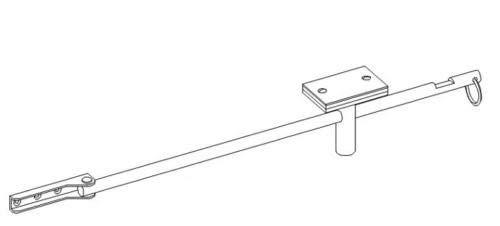 Torfeststeller Tortreibriegel Torverschluss Garagentorfeststeller 850mm