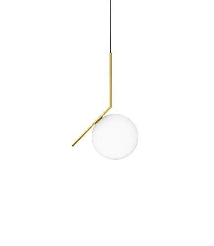 FLOS Lámpara De Suspensión Ic S1 Blanco/Dorado