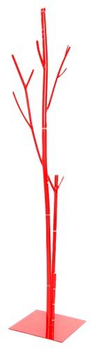 appendiabiti da terra rosso Generico Appendiabiti da Terra in Ferro BATTUTO ATTACCAPANNI Albero Bambu Rosso