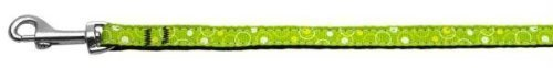 Mirage Pet Products Retro Nylon Ribbon Leash for Dogs and Cats, 3/8-inch by 4-feet, lime green by Mirage Pet Products