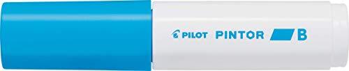 Pilot Pintor Brede Lijn Beitel Punt Marker 8mm Tip- Lichtblauw (Pak van 6)