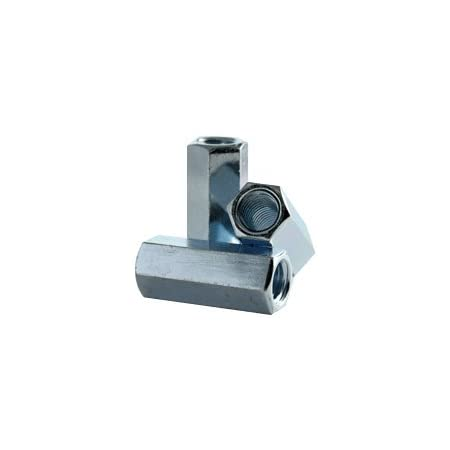 Reducer Hex Coupling Nuts with Zinc Plate Nut Reducer 4 3//8-16 to 1//4-20 x 1 Long Coupling Reducer Nut