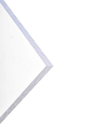 BuyPlastic Clear Acrylic Plexiglass Sheet Plastic, Choose 1/8' or 3/16' or 1/4' Thick, Size 24' x 24' and More, Plexi Glass for Crafts, Glass Replacement Board