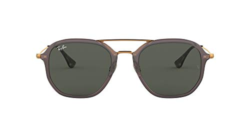 Ray-Ban 0Rb4273 Gafas de sol, Shiny Trasparent Grey, 52 Unisex-Adulto