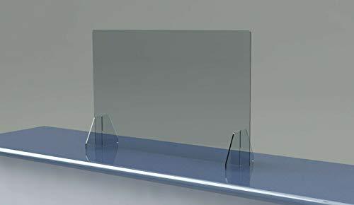 SNEEZE GUARD No Cutout NO Hole Acrylic Barrier SHIELD CHECKOUT COUNTER Desk (30'W x 38H)