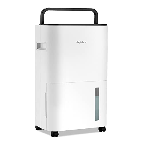 HOGARLABS 3500 Sq Ft 50 Pint Dehumidifier for Home Basements Bathroom Bedroom, Dehumidifier with Drain Hose for Medium to Large Room, Intelligent Humidity Control Dehumidifier with Laundry Dry