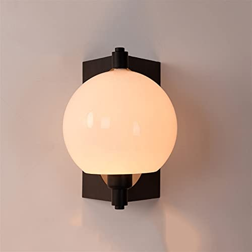Zziyj Bedroom Bedroom Indoor Lighting Lamp Creative Bedside Wall Lamp for Bathroom Stairway Aisle Wall Sconce Nordic Wall Light Living Room Wall Personality Glass Ball Fixture Room Art Decor E27