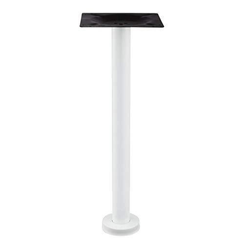 YCDJCS Tischbeine Bartisch Beinstützsäule Edelstahl Wohnzimmer Tischständer Bürocomputer Desk Stand Regale & Ablagen (Color : Silver, Size : 80 cm)