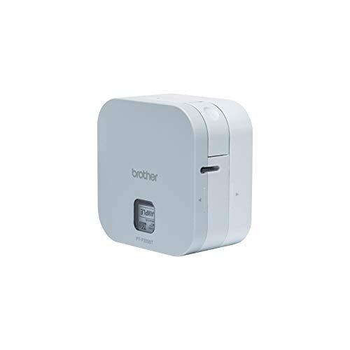 Brother PT-P300BT P-Touch Cube Etikettierer, kompakt, lässt Sich einfach an Smartphones und Tablets bis 12 mm anschließen.
