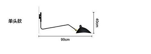 Nordic wandlamp, dubbelkop, draaibaar, eendenuitsparing, ijzer, lampenkap, wandlamp, decoratie, thuis, 110 – 240 V