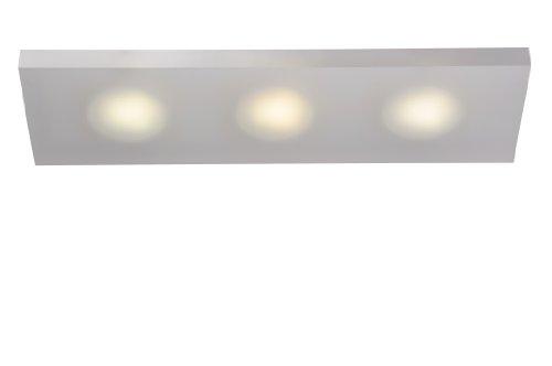 Lucide 12134/73/67 Winx - Aplique para 3 bombillas (9 W, casquillo X53, 5,5 x 15 x 50 cm, acrílico), color blanco