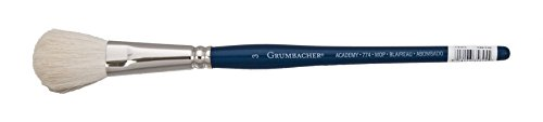 Grumbacher Academy Watercolor Round Mop Brush, White Nylon Bristles, 3/4