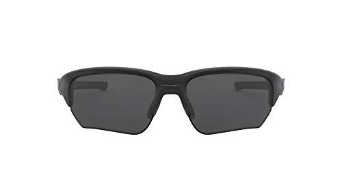 Oakley Men's OO9363 Flak Beta Rectangular Sunglasses, Matte Black/Grey, 64 mm