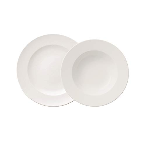 Villeroy und Boch - For Me Dinner-Set, 8 tlg., das Allround-Talent, Premium Porzellan, spülmaschinen-, mikrowellengeeignet, weiß