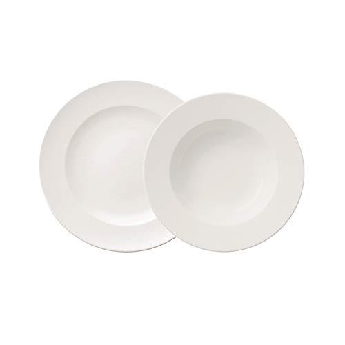 Villeroy & Boch - For Me Dinner-Set, 8 tlg., das Allround-Talent, Premium Porzellan, spülmaschinen-, mikrowellengeeignet, Weiß