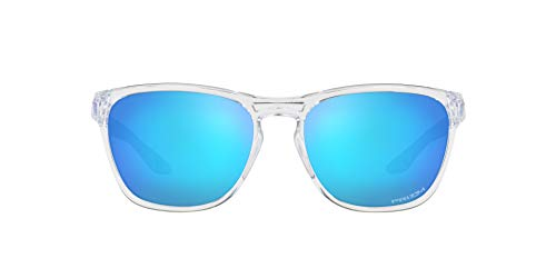 Oakley Manorburn Sonnenbrille, Polished Clear-prizm Sapphire