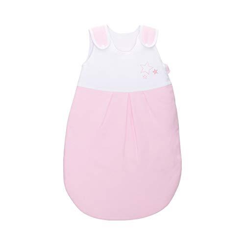 BORNINO HOME Ganzjahresschlafsack Stern - wattierter Baby-Schlafsack mit Druckknöpfen an den Schultern & seitlichem Reißverschluss