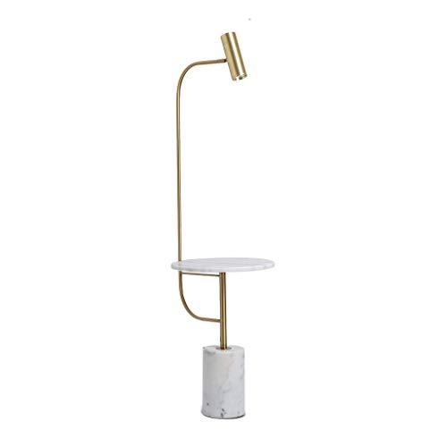 Lampe Télécommande for Salon Chambre Lampe Verticale Marbre W1 Tabletop / 4 (Couleur: Noir + Tablette en marbre + télécommande), Couleur: Gold + marbre étagère (Color : Gold+Marble Shelf)