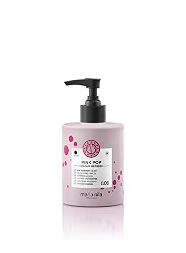 Maria Nila Colour Refresh Pink Pop 300 ml - En Vårdande Färgbomb som Innehåller Tillfälliga Färgpigment som Snabbt Fräschar Upp Hårfärgen. 100% Veganskt. Sulfatfritt och Parabenfritt.