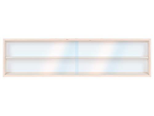 Alsino Holzregal Wandvitrine Setzkasten V100.2A Vitrine Spur HO & N Regal H0 100 cm mit Nuten