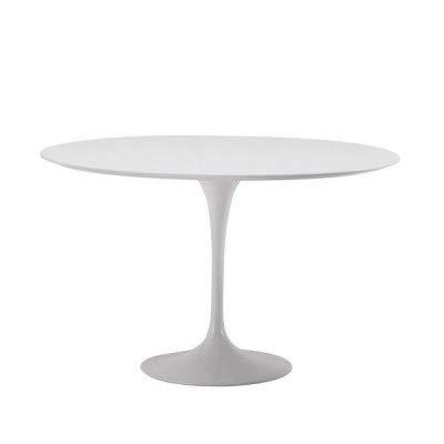 Tavoli.design CM 90 Table Tulip Eero Saarinen Ronde lamine Liquide Blanche