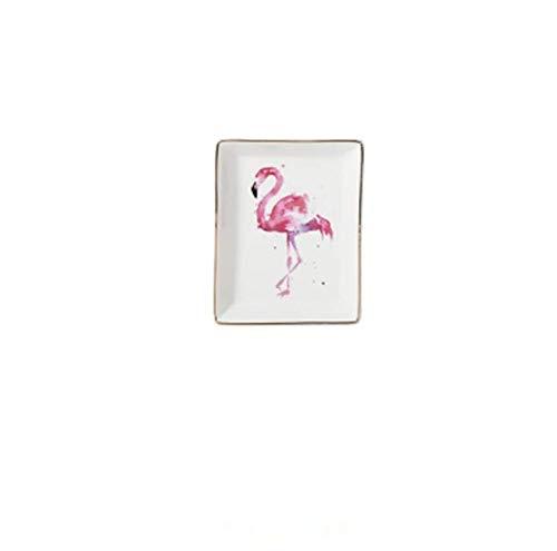 qnmbdgm Plaat Keramische Kaas Board Snack lade dienblad Flamingo Ontwerp Dinnerware Sets Keramische Plaat
