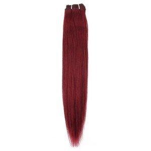 Beauty7 1 Bundle Tissage Extension de Cheveux Humain Naturel Trame de Cheveux Raides Couleur Rouge Vin #99 - Poids 100g - Longueur 50cm