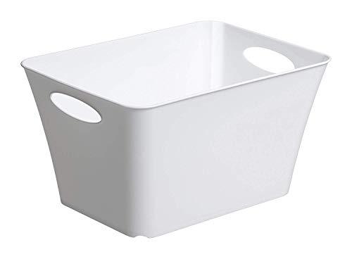 Rotho Living Aufbewahrungsbox 11l, Kunststoff (PP) BPA-frei, weiss, 11l (35,5 x 26,0 x 19,2 cm)