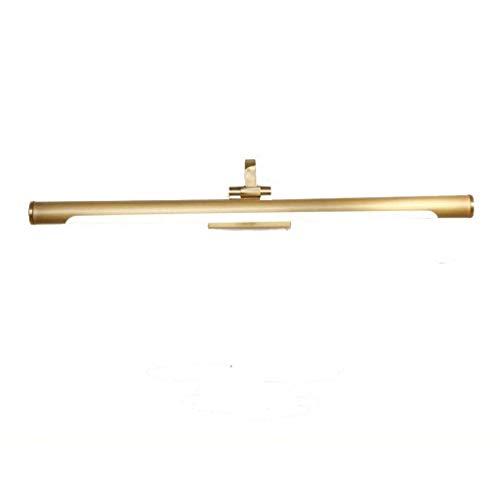 Nuevos faros de espejo de bronce chino Lámpara de espejo de baño de baño LED Lámpara de tocador de espejo retro Lámpara de tocador de bronce, M / 57cm / 11w