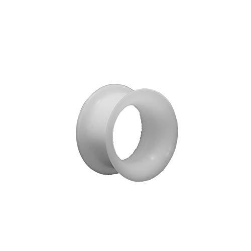 eeddoo Flesh Tunnel weich flexibel Weiß Silikon 10 mm