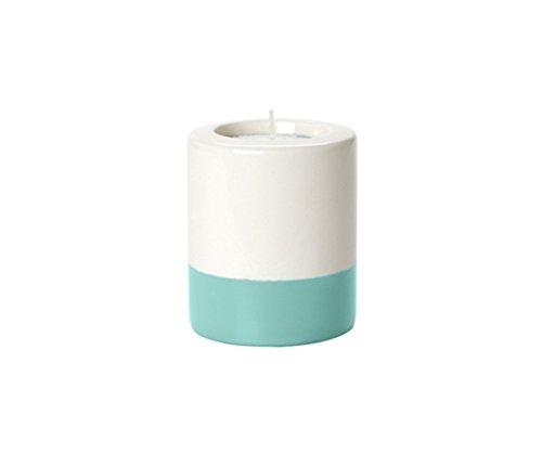 Present Time Dip It Ceramic Tea Light Holder, 8.5cm, Cream