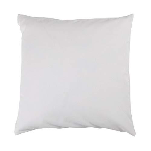 Hans-Textil-Shop Federkissen mit Baumwolle Inlett - Federfüllung, Sofa, Bett, Kissen, Polster, Füllkissen, Kopfkissen (50x50 cm)