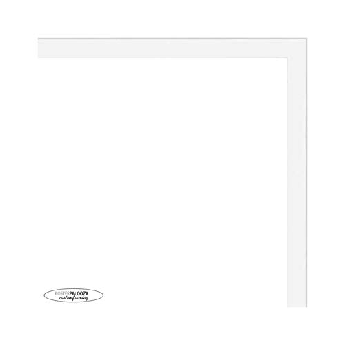 Poster Palooza 20x20 Contemporary White Wood Picture Square Frame - UV Acrylic, Foam Board Backing, & Hanging Hardware Included!