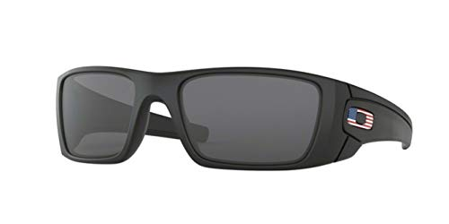 Oakley Fuel Cell, OO9096 (38) Matte Black/Gray 60mm, Sunglasses Bundle with original case, and accessories (6 items)