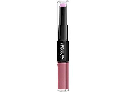 L'Oreal Paris Lippen Make-up Infaillible Lippenstift, 213 Toujours Teaberry/Liquid Lipstick für 24 Stunden volle Lippen mit feuchtigkeitsspendendem Lippenpflege - Balsam, 1er Pack
