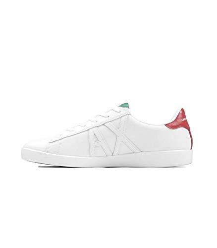 Armani Exchange XUX016 - Zapatillas deportivas con cordones de piel sintética para hombre