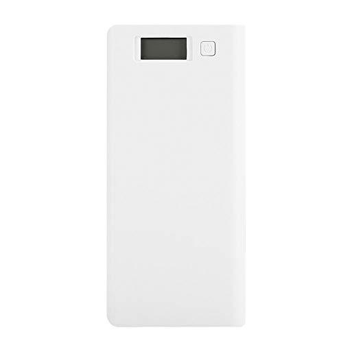 Ccylez Accu Box, portátil 8x18650 Batería Power Bank Carcasa DIY Power Bank Shell Kit Accesorios con Deflector Admite Todos los Modelos para Cargar teléfonos móviles(Blanco)
