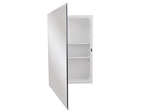 Jensen 1459X Bevel Mirror Medicine Cabinet, 16' x 26',White