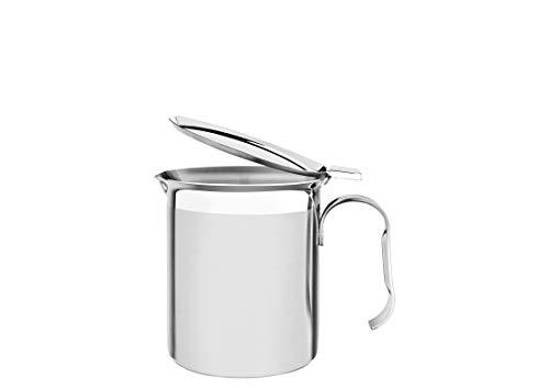 Tramontina 61570-100 - Cafetera con tapa (acero inoxidable, 900 ml, 10 cm de diámetro, apta para lavavajillas)
