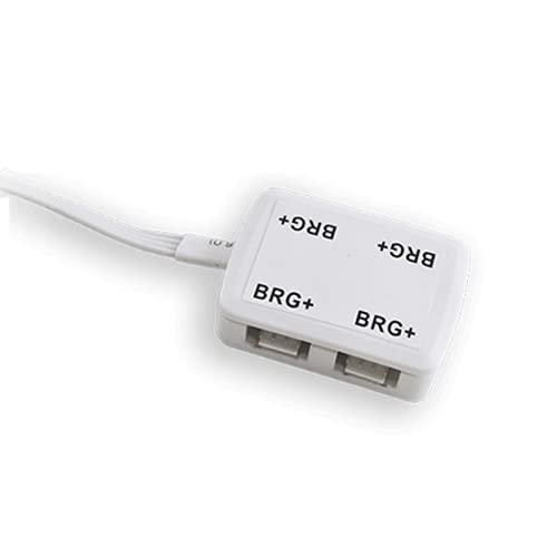 Lampo Box RGB - Cajas de derivación para conexiones de tiras LED RGB - 4 puertos + conector