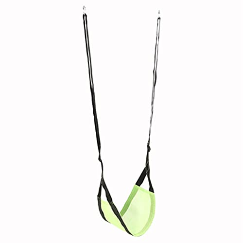 Columpio Swing portátil Ajustable, Silla de Colgante de jardín Interior Duradero, instalación rápida, 54x29cm (Color : Green)