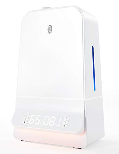 TaoTronics 加湿器 超音波式 6.0L 大容量 2021年最新版 湿度設定可能 26dB超静音 LED液晶ディスプレイ 最大60時間連続加湿 14.5-24畳対応 タイマー機能搭載 スーリプモード オーフェス 寝室 家庭用 テレワーク TT-AH044Amazon.co.jp 限定