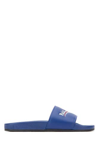 Balenciaga Luxury Fashion Herren 530562WAM004045 Blau Leder Sandalen | Jahreszeit Permanent