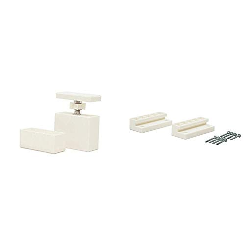 Heian Shindo LABRICO DIY Storage Parts 2 x 4 Adjusters Off White DXO-1 & LABRICO DIY Storage Parts 2 x 4 Joints Off White DXO-4 [Set Purchase]