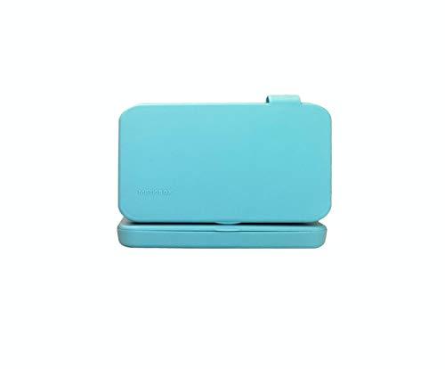 ECODEPIL Porta mascarillas para Niños - Pack de 2 Estuches - Caja para mascarillas Reutilizable- Ideal para Guardar Tus mascarillas- Protección asegurada Fácil de Limpiar- Color Turquesa